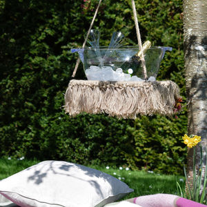 Indoor Outdoor Macrame Hanging Table - garden furniture