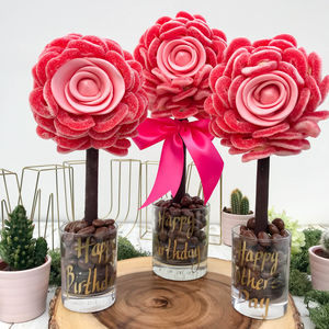 Fizzy Ring Edible Rose Tree - novelty chocolates