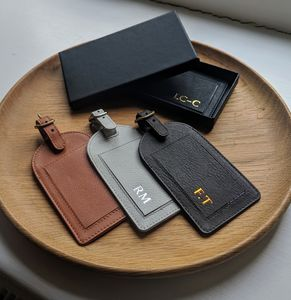 Personalised Foiled Leather Luggage Tag