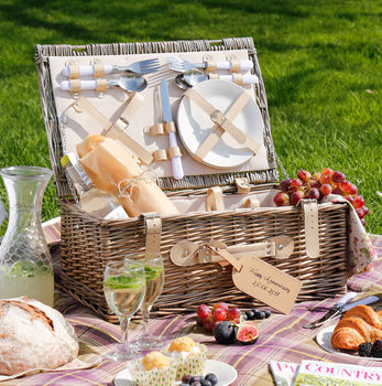 Nesfield Luxury Personalised Picnic Hamper For Four