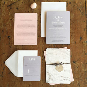Marble Wedding Invitation Collection