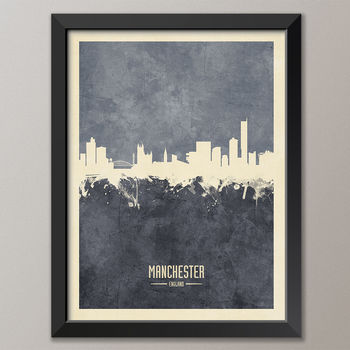Manchester Skyline art print poster (frame not included)