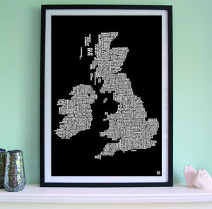 British Isles Golf Course Screen Print - activities & sports
