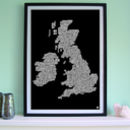 British Isles Golf Course Screen Print