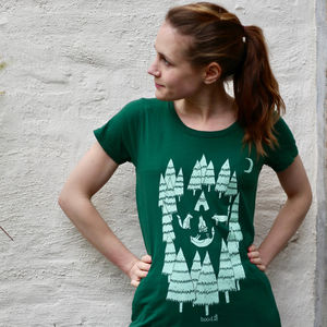 Organic Womens 'Foxes In The Forest' T Shirt - tops & t-shirts