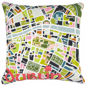 Contemporary Dublin City Map Tapestry Kit