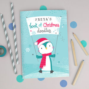 Personalised Childrens Christmas Notebook - summer sale