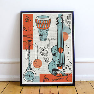 Abstract Music Print