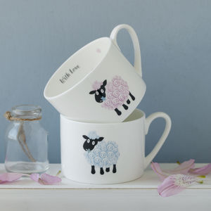 Personalised Baby Lamb Child's Bone China Mug