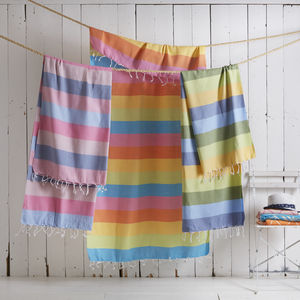 Summer Breeze Hammam Beach Towel - bathroom