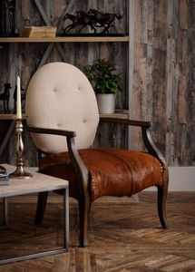 Artisan Goat Hide Arm Chair - armchairs