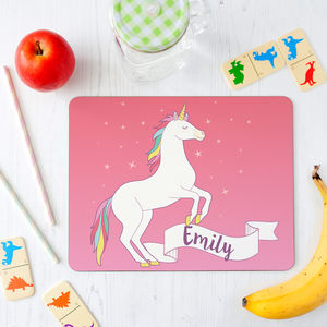 Personalised Unicorn Placemat For Children - kitchen
