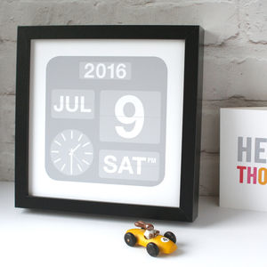 Personalised Calendar Date Print - gifts for her
