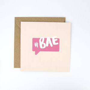 #Bae Valentine's Day Card