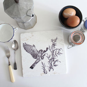 American Kestrel Natural Stone Trivet - kitchen