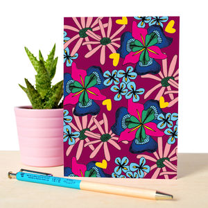 Notebook With Botanical Illustrated Pattern
