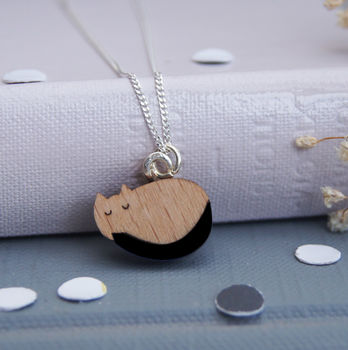 Sleeping Cat Mini Necklace
