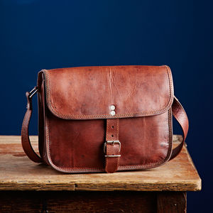 Handmade Leather Shoulder Bag - bags & purses