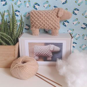 Welsh Mountain Sheep Knitting Kit - toys & games