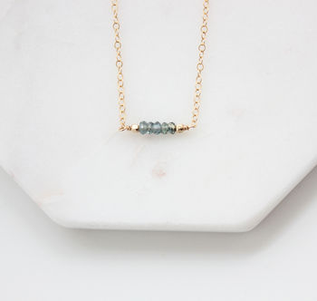 Gold Filled Sapphire Necklace