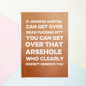 Get Over It Valentine's Day Card