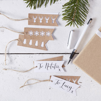 Brown Kraft Paper Christmas Gift Tags