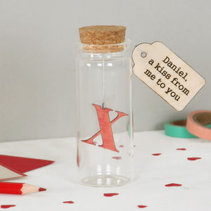 Personalised Kiss In A Bottle Valentine's Keepsake