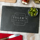 Personalised Mens Bar And Grill Chopping Board