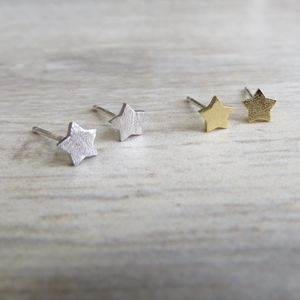 Tiny Star Studs - children's jewellery