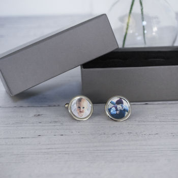 Hand Made Personalised Photo Cufflinks