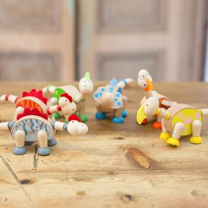 Flexible Wooden Dinosaurs - traditional toys & games