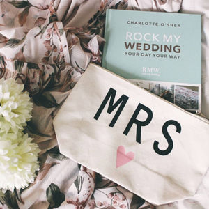 'Mrs' Make Up Bag - gifts for the bride