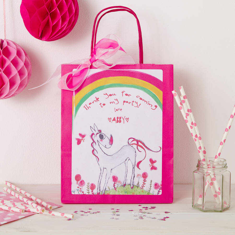 Personalised Unicorn Party Bag