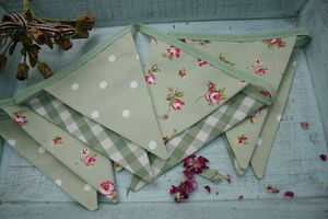 Handmade Fabric Bunting - outdoor decorations