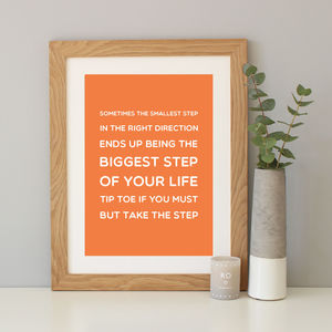 'Take The Step' Inspirational Quote Print