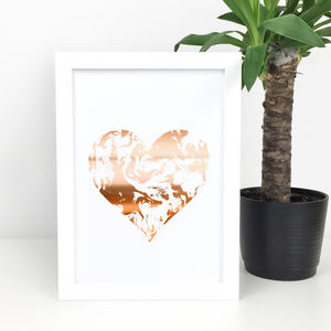 Nursery Print Copper Heart