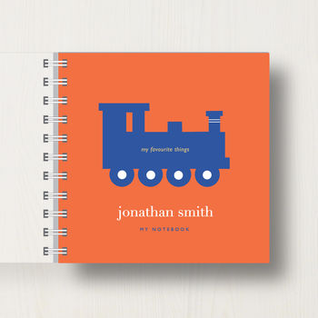 notebook in orange colour scheme