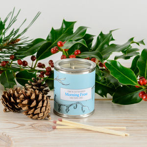 Morning Frost Peppermint Candle Tin - candles & home fragrance