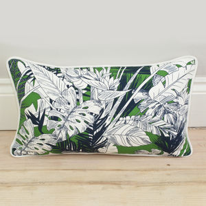 Tropical Palm Leaf Bolster Cushion