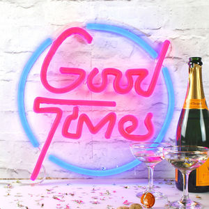'Good Times' LED Neon Light Up Sign - wall lights