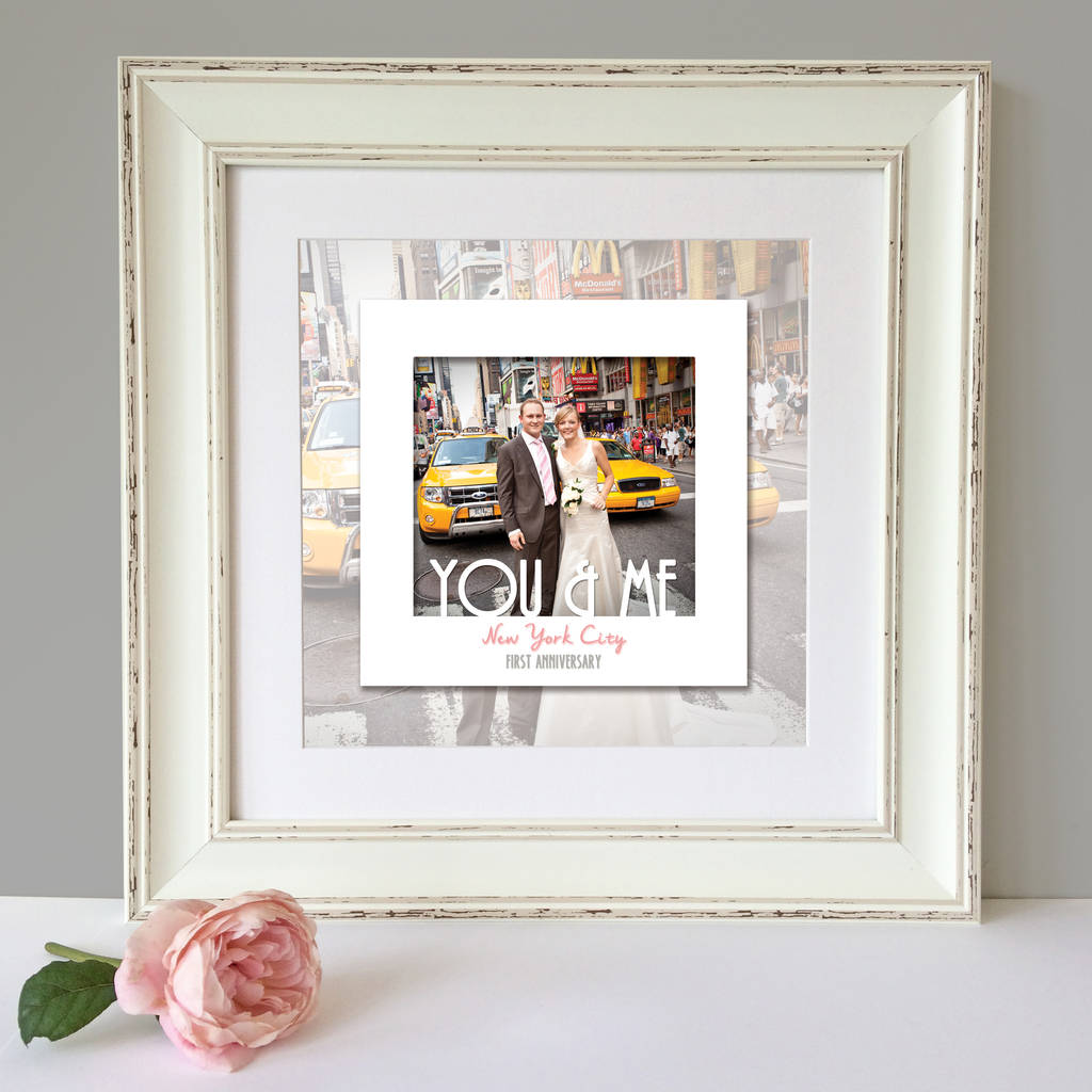 personalised first wedding anniversary print by the little paper ...