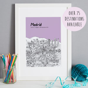 Personalised Anniversary Gift 'Our Special City'