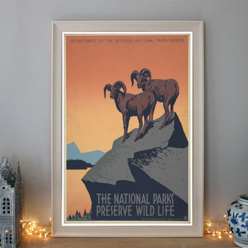 Vintage The National Parks Art Deco Travel Poster