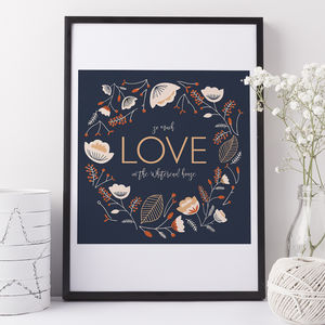So Much Love Personalised Family Gift Print