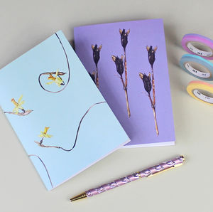 Botanical Floral Notebooks ' Dried Specimens ' Gift Set