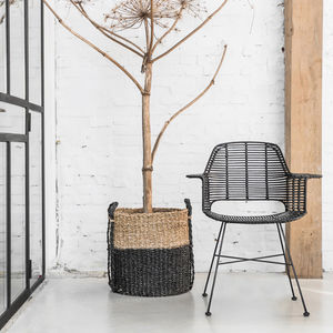Scandi Style Rattan Tub Dining Chair