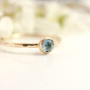 London Blue Topaz And 9ct Gold Ring - rings