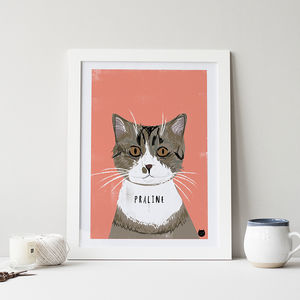 Bespoke Custom Cat Portrait - drawings & illustrations