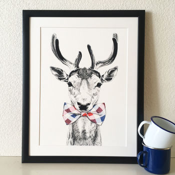 Donny Deer Society Animal Giclée Print