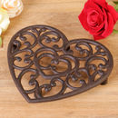 Personalised Cast Iron Heart Trivet